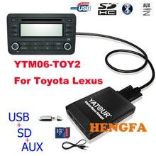 Yatour Car Digital Music Changer USB MP3 AUX adapter Player for 2005-2012 Toyota / Lexus / Scion small 6+6 pin Car Audio Radio