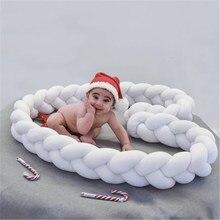 1 м/2 м/3 м Детская кровать бампер узел детская кровать подушка De Lit Tresse Bebe бортики для кроватки Детская кроватка бампер декор комнаты