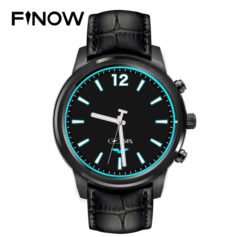 Finow X5 Android 4.4 Smart Watch 1.4 AMOLED Display 3G WiFi GPS Dual Bluetooth Smart Watches Clock Phone for iOS Android Phone y3 android 5 1 3g smart watch phone brown