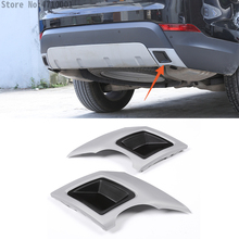 все цены на Car Rear Pipe Tail Throat Exhaust Cover Outputs Frame Cover For Land Rover Discovery 5 LR5 L462 S SE HSE Version 2017 2018 онлайн