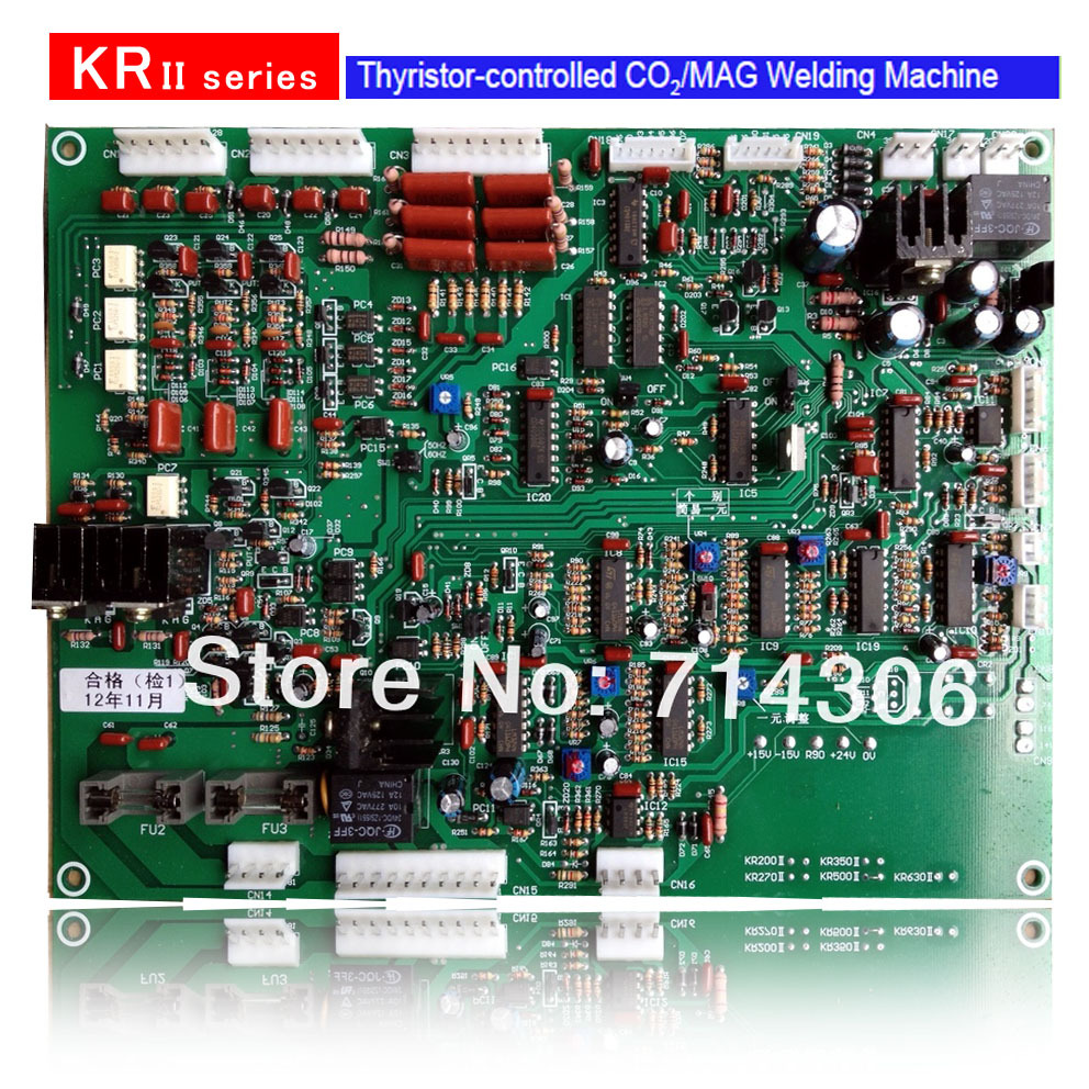 Control circuit board of KR- 350A 500A PCB  for   MIG CO2 MAG welding machine with best selling and good quality mig wire feeder motor 76zy02a dc24v 18m min for mig welding machine