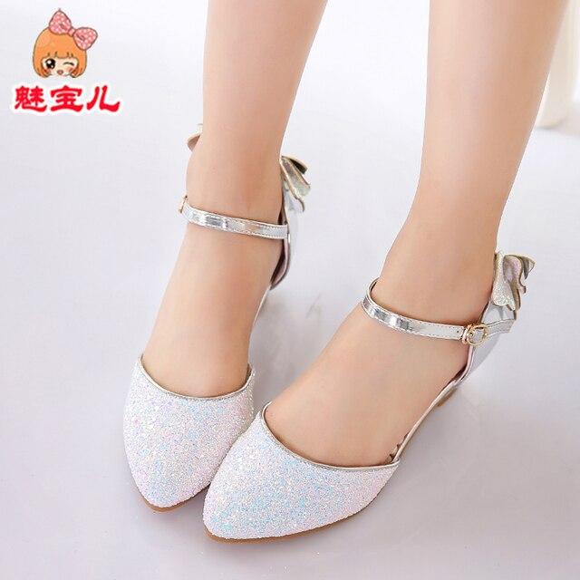 32e69481 Детская обувь, девочек модная обувь, Обувь на высоком каблуке, детские туфли  принцессы,