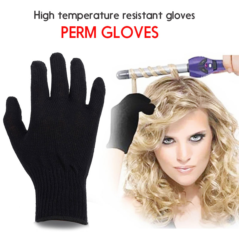 Family High Temperature Gloves Soft Cotton Glove Heat Resistance 1pcs Comfortable Modeling Accessories Curly Hair Prop