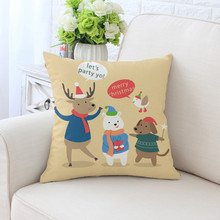 BZ142  Cartoon Christmas Series Pillowcase Pillow Cover Machine Washable Home Textile 45cm*45cm/18x18 Inch