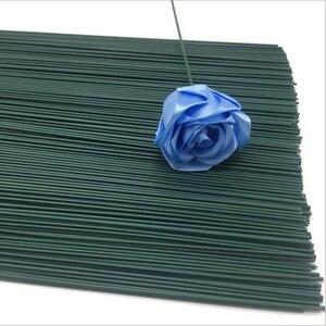 Image 5 - 2Mm 40Cm Papier Bedekt Kunstmatige Takken Takjes Ijzerdraad Voor Nylon Bloem Accessoire Zijde Bloem Materiaal Bouquet Craft decor