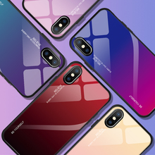 Luxury Gradient Tempered Glass phone Case For Iphone 6 6S 7 8 Plus Protective Back cases For Iphone X XR XS Max Colorful Shell стоимость