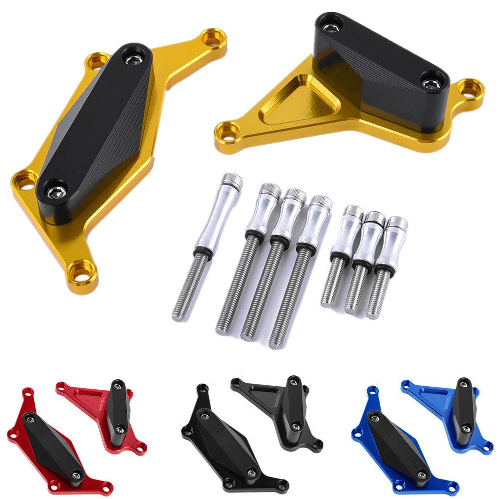 Frame Slider Crash Pad Engine Stator Case Saver Cover Falling Protector Set For Suzuki GSX S