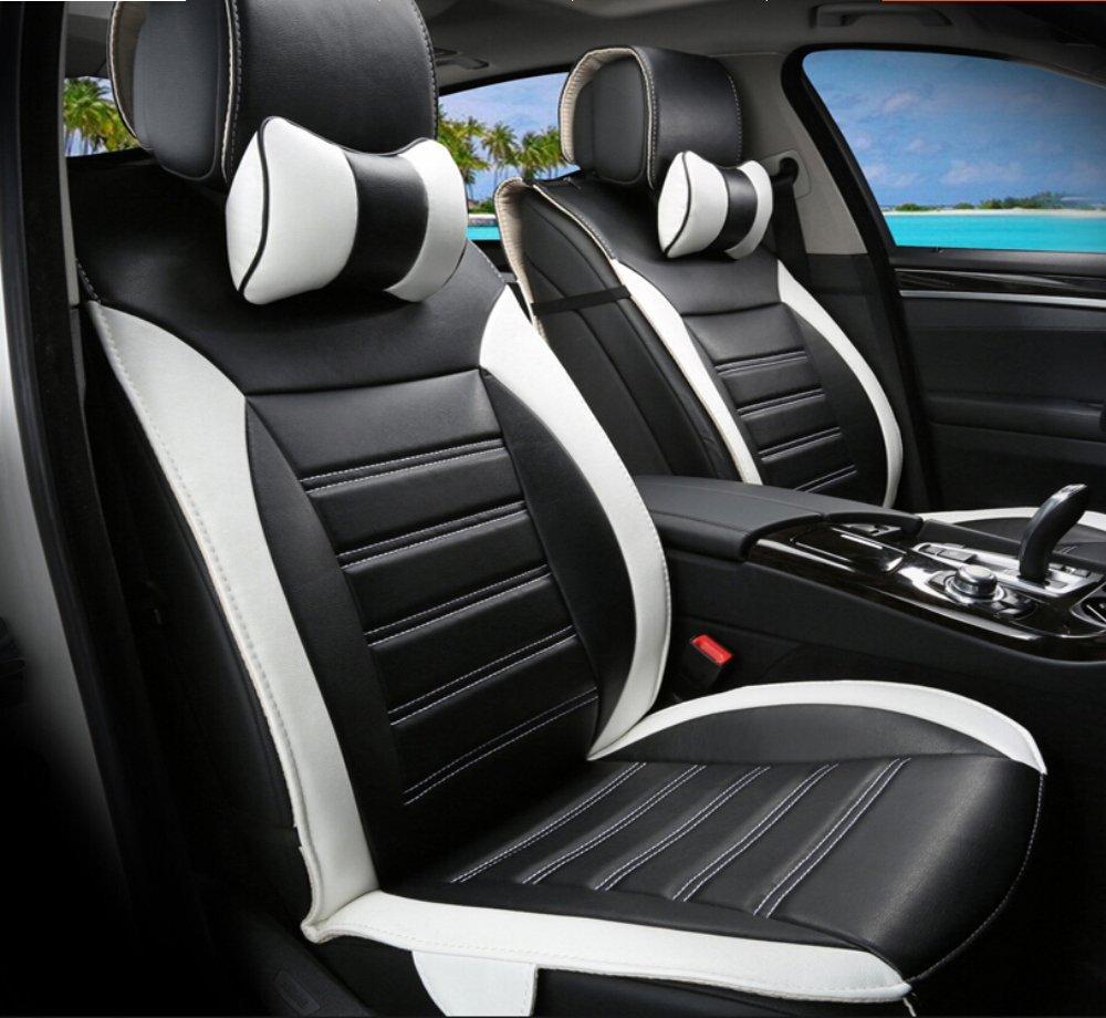 Moonet 8pcs Universal Car Seat Covers Pu Leather Full Set