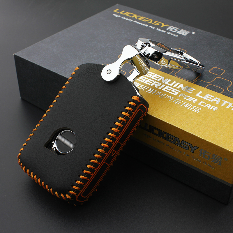 luckeasy fedél VOLVO XC90 S90L 2016 2017 LEATHER HOLSTER autós kulcstartó táska Key Case for Car