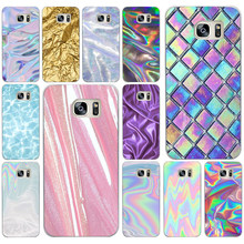 215AD Pastel Metallic Tumblr Hard Transparent Cover Case for Samsung Galaxy S4 S5 Mini S6 S6 S8 S9 edge plus S7 Edge(China)