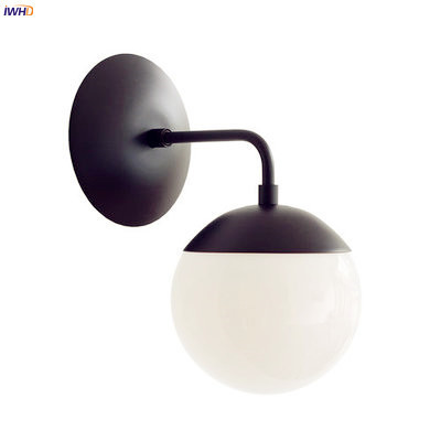IWHD luces de pared LED modernas de estilo nórdico, accesorios de iluminación para sala de estar, luz para espejo de baño, lámpara de pared de bola de cristal, candelabro para el hogar