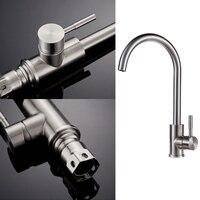 360 Degree Rotatable Tap Chrome Faucet Kitchen Bath Faucet Kitchen Mixer Sink Faucet Homeful
