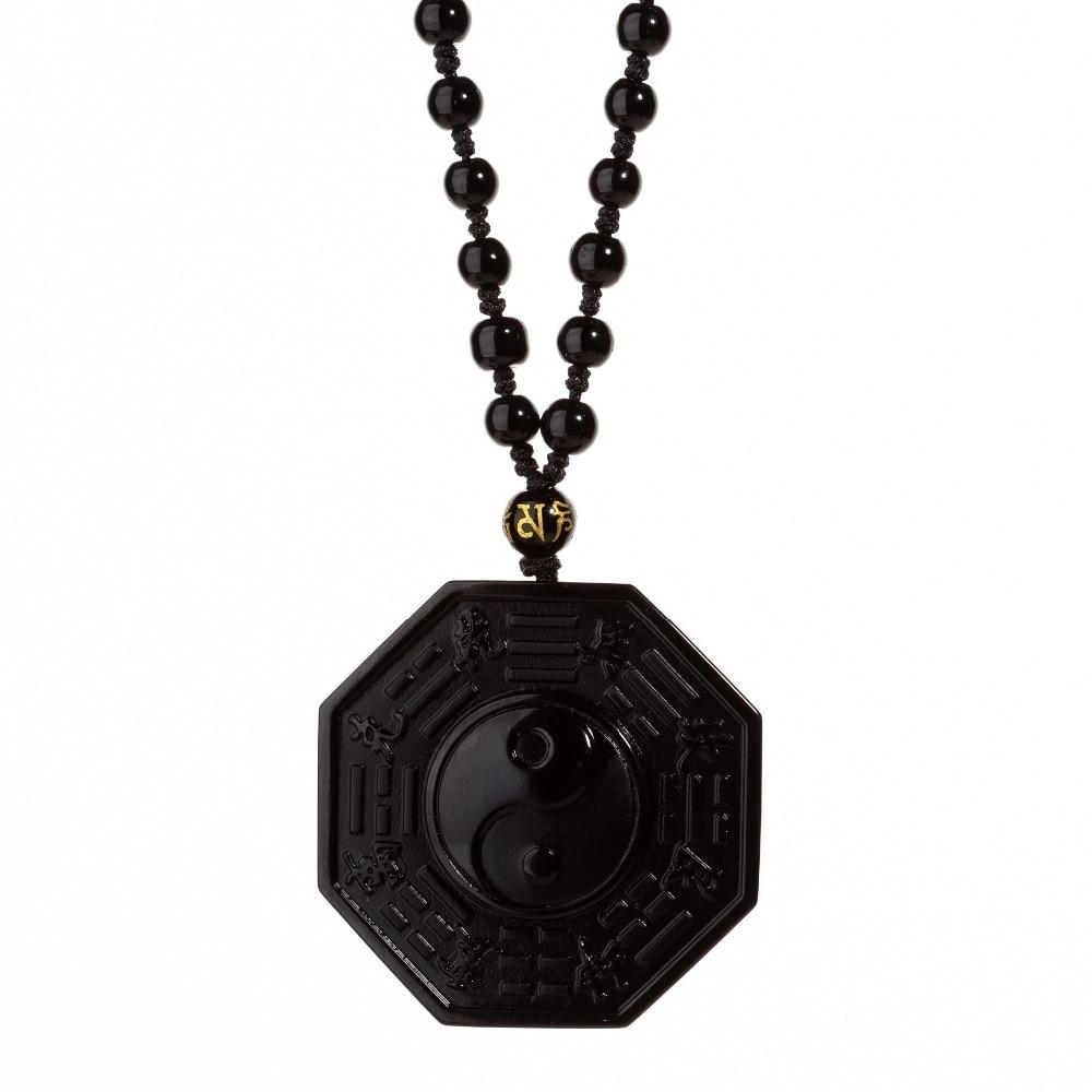 Traditional Obsidian Bagua Pendant 2