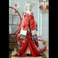 БЖД ткань кимоно ветер волны sakuran Xianhe bronzing кимоно