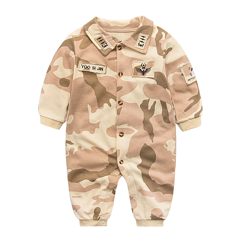 Baby Rompers Summer 2017 Baby Outerwear Newborn Girls Boy Clothing Pajamas Military Jumpsuit Baby Costume Toddler Girl Clothing unisex baby rompers newborn baby clothes boy girls winter jumpsuit hooded toddler outerwear christmas clothing deer costume