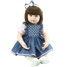 2016 Baby Doll Reborn Lifelike 22inch Handmade Doll Soft Vinyl Newborn Babies Dolls Collectible Finished Doll Juguetes Gifts