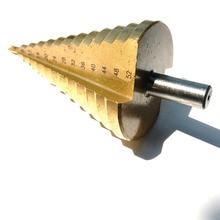 1PC dari HSS4241 Lurus Flute Langkah Bor Bit Set Metrik Core Drill Cone pemotong Lubang 4-52 8