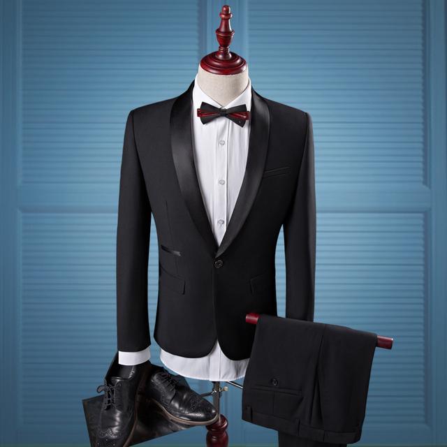 2 peças Mais Recentes Modelos Casaco Calça Terno Homens de Negócios de Moda Formais Desgaste Plus Size Vestido de Casamento do Noivo Smoking Terno Dos Homens Blazer