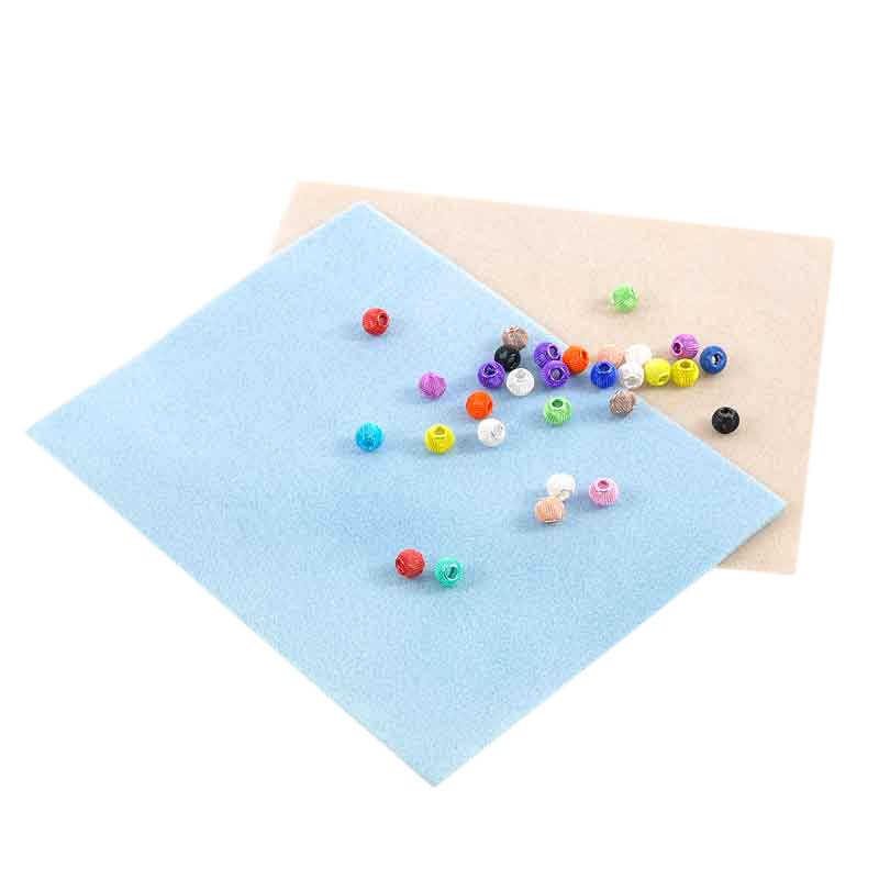 Цветная случайная флокирующая губка бусины из полиэстера Противоскользящий