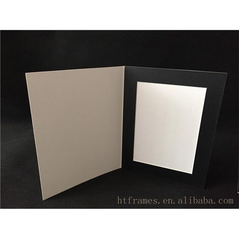 HAOTUO Photo Frame Black Acid Free Cardboard Photo Folders for 4x6 ...