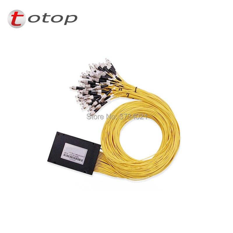 PLC Splitter FC UPC 1X 64 Single mode FC splitter fiber optic 1x64 FC upc plc splitter/ 1x64 Singlemode plc splitter