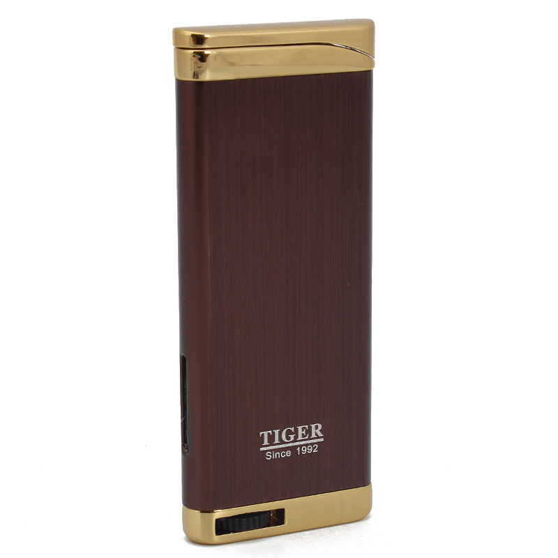 Image 3 - 2018 New Compact Jet Lighter Gas Torch Turbo Lighter Flat Windproof Cigar Pipe Lighter 1300 C Butane No Gas-in Matches from Home & Garden