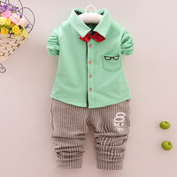 High Quality Spring Autumn Baby Boy Set Cartoon Set Newborn Cotton Suits Baby Clothing 2 Pcs