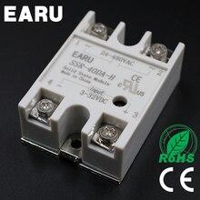1 pcs 40A 250V SSR-40DA-H Solid State Relay Module 3-32V DC TO 90-480V AC SSR 40DA-H SSR Resistance Regulator