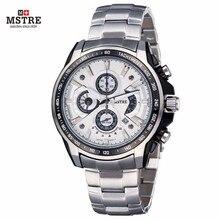 Luxury Brand Men's Watch Men's Business Casual Watch Japan Quartz Move Steel Band Case Chronograph Waterproof Wrist watches