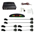 Black Car LED Display 6 Parking Sensor Reverse Aid Backup Radar System #J-889