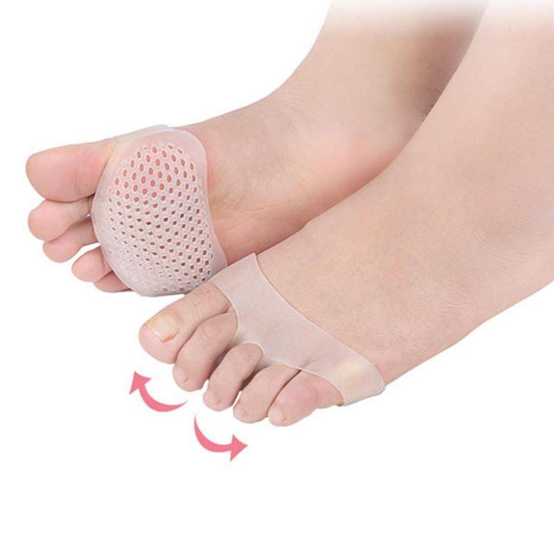 1 Paar Atmungsaktive Vorfuß Pads Frauen Hohe Ferse Elastische Einlegesohlen Fußpflege Werkzeuge Silikon Gel Toe Pads Schmerzen-beständig Kissen Diversifiziert In Der Verpackung