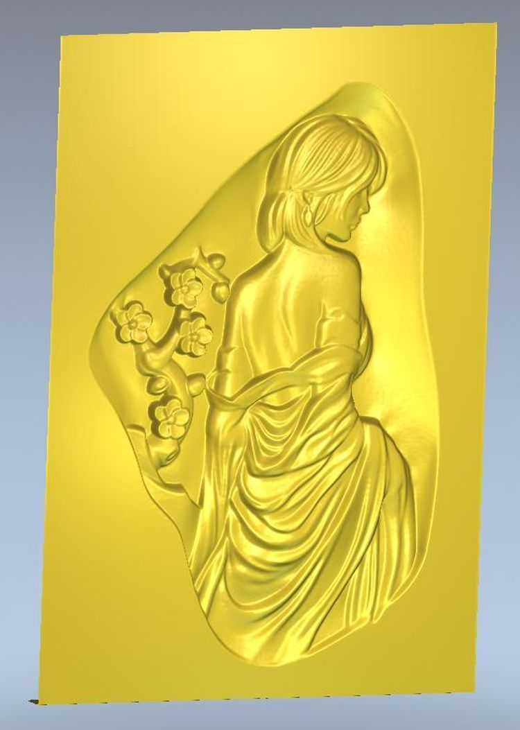 3d Model Relief  For Cnc In STL File Format Panno_girl_10