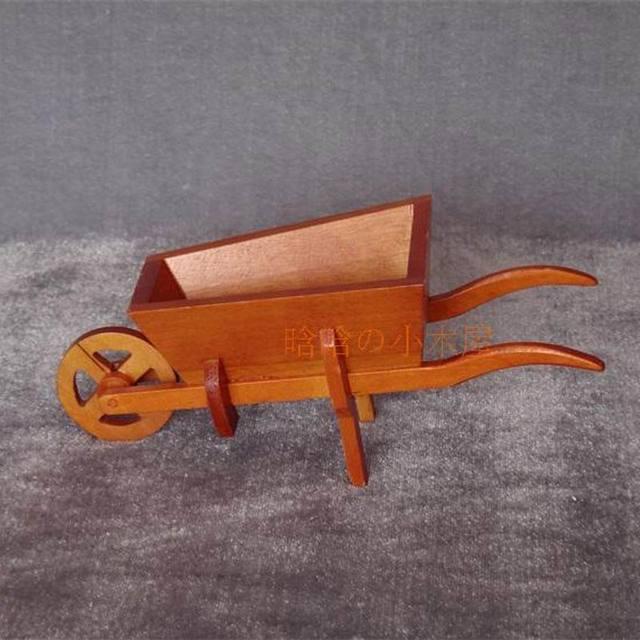 diy dollhouse miniatures halloween wood wheelbarrow 112 scale b024