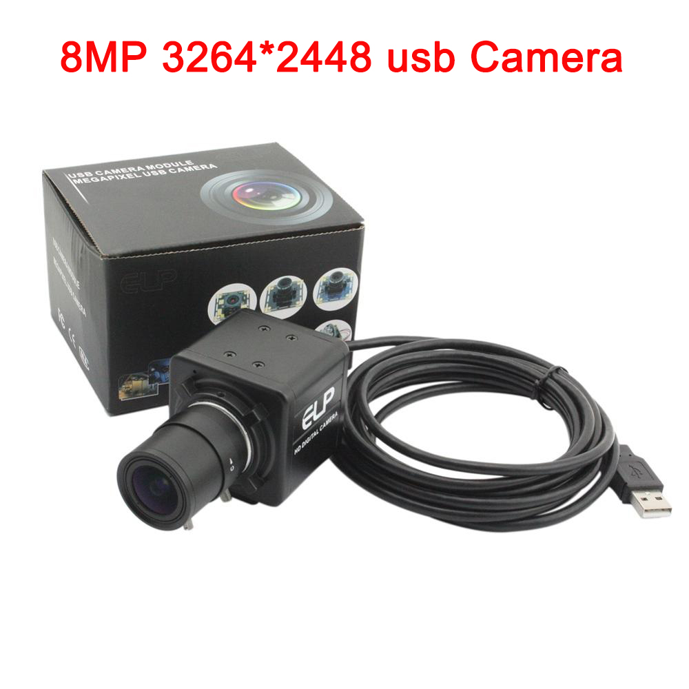 bilder für 8MP usb kamera 3264X2448 MJPEG 15fps Sony IMX179 video box innen überwachung digitalkamera modul mit 5-50mm vario-objektiv