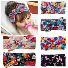 7 Styles Baby Girl Turban Headband Bow Knotted Multicolor Headbands Cute Headwear for 0-4 Years Lovely Gifts