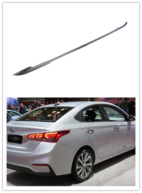 ABS Chromed Exterior Rear Trunk Boot Lower Mouldings Trim 1 PCS For Hyundai VERNA Solaris Accent 2018