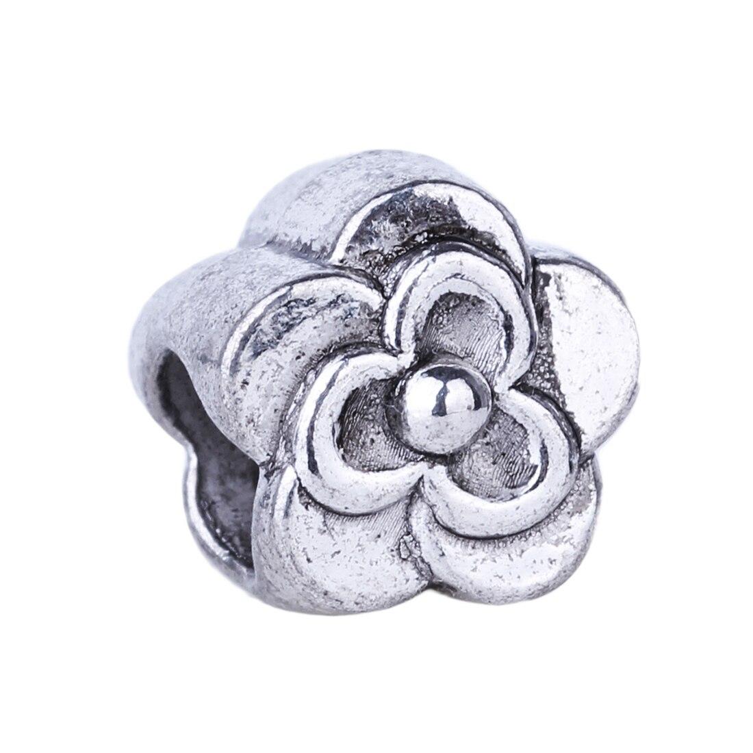 っ1 pieza 925 pequeña flor de alta calidad europeos del agujero ...