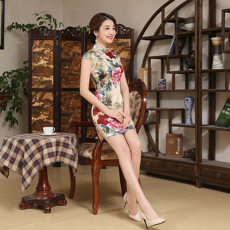 Hot Sale Women Summer Dress Chinese Dress Qipao Eastern