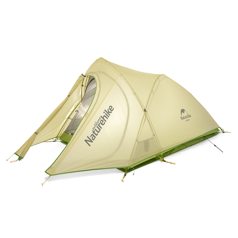 NatureHike New arrival Tent Camping 2 Person Waterproof Double Layer Outdoors Camping Durable Gear Picnic Tents Green Grey dhl free shipping naturehike factory sell double person waterproof double layer camping durable gear picnic tent 20d silicone page 5