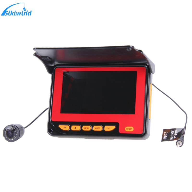 20M Professional Fish Finder Underwater Fishing Video Camera Monitor 150 Degree Angle 4.3 Inch LCD Monitor With 20M Cable New цена