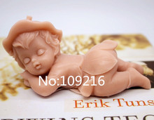New Product!!1pcs Baby Lying On The Ground (zx217) Food Grade Silicone Handmade Soap Mold Crafts DIY Mould
