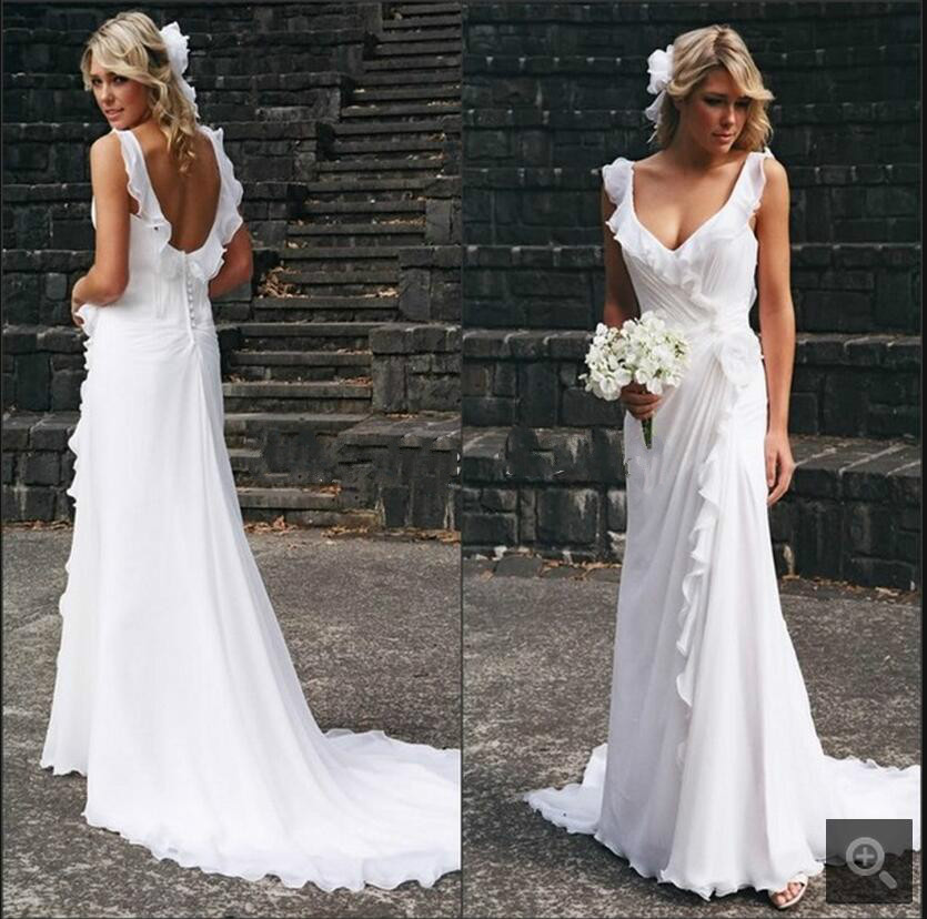 Cheap Wedding Dresses Size 6: Summer Beach Chiffon Wedding Dresses 2017 Vestido De Noiva