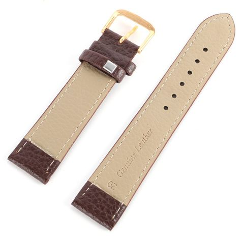 Newest Fashion Black Brown High Quality Watchband Soft Litchi Stripe PU Leather Watches Strap Pin Buckle 12-22mm Multan