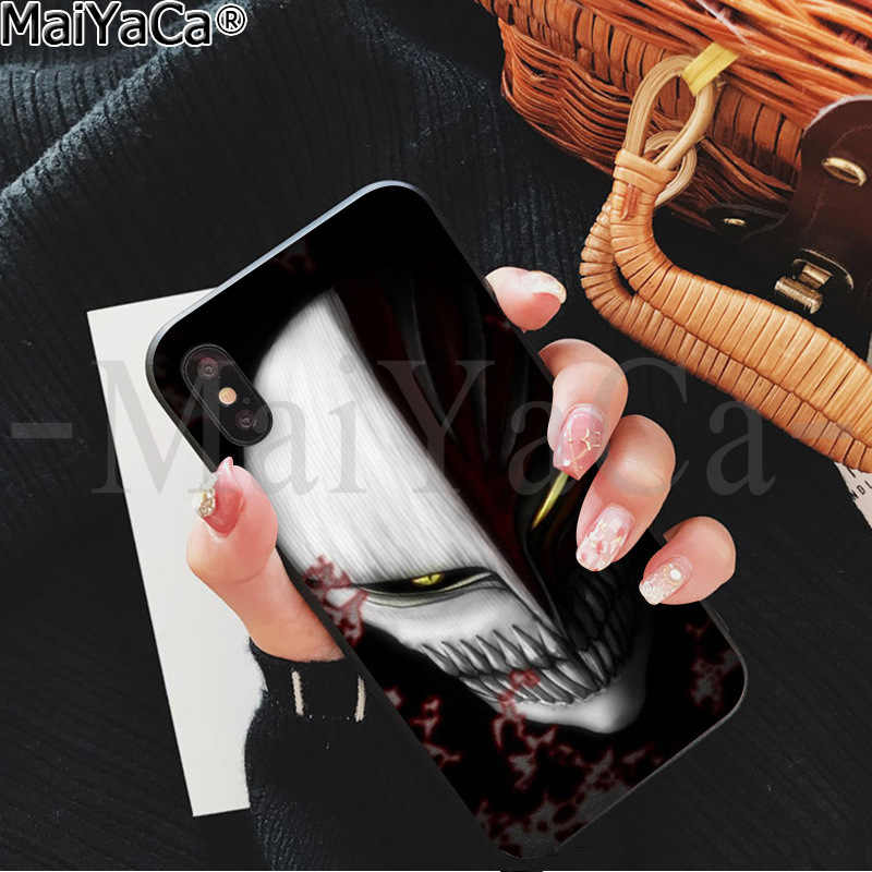 Maiyaca Bleach Ichigo Hollow Masker Diy Mewah High-End Pelindung Case untuk Apple Iphone 8 7 6 6S plus X XS Max 5 5S SE XR Kasus