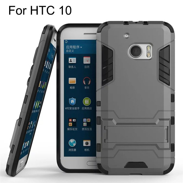 Keysion Phone Case For HTC 10 M10 Back Cover Hard Heavy Duty Shield For HTC ONE 10 M10 Shockproof TPU+Silicone