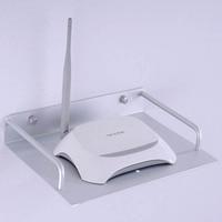 Bathroom Shelves TV Set Top Box Holder Bracket Single Space Aluminum Shelf For Storage Holders Racks