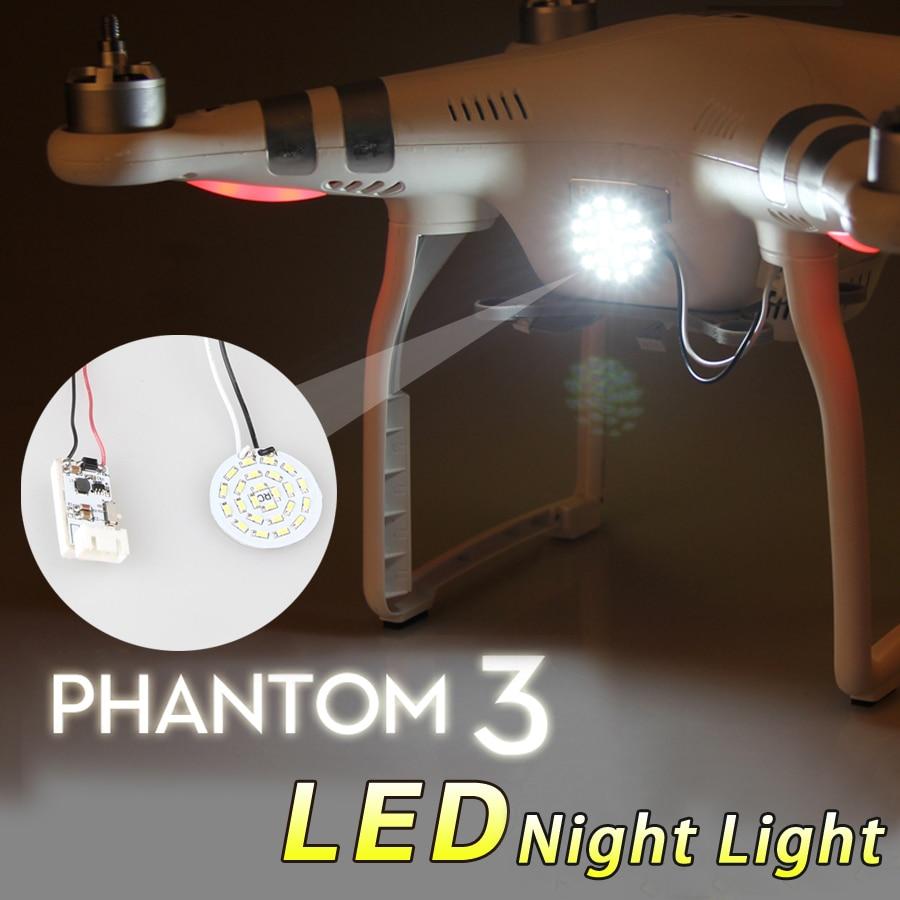 Ultra-light LED Circle Head Light Phantom 3 Lamp Night Light Spotlight with Depressurization Module Accessory for DJI Phantom 3