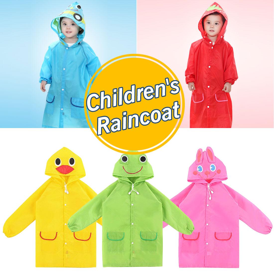 f59187a43 Abrigo de lluvia lindo para niños estilo Animal de dibujos animados impermeable  para niños para mujeres ropa de lluvia/traje de lluvia para estudiantes ...