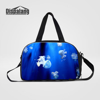 Dispalang Travel Bag Jellyfish Print Travel Duffle Bag Women Men Large Luggage Travel Bags Weekend Overnight Shoulder Bag
