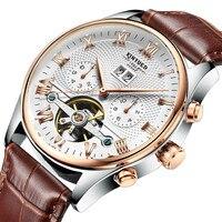 Splendid Mens Watches Top Brand Luxury Hollow Skeleton Automatic Watch Calendar Watch